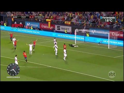 ´Espiões´ brasileiros acompanham amistoso entre Suíça e Espanha   SBT Brasil (04/06/18)