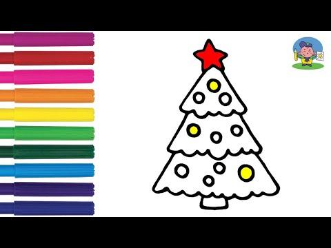 Как нарисовать ЕЛКУ / НОВОГОДНЯЯ ЁЛКА / Мультик Раскраска ЁЛКА детям / How To Draw A Christmas Tree