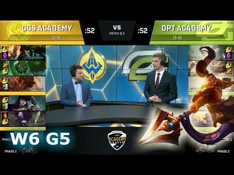 Golden Guardians Academy vs OpTic Academy | Week 6 S8 NA Academy League Spring 2018 | GGSA vs OPTA