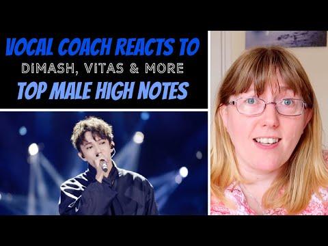 Vocal Coach Reacts to TOP High Notes Male Vitas Dimash Leo Gonçalves David Phelps & More