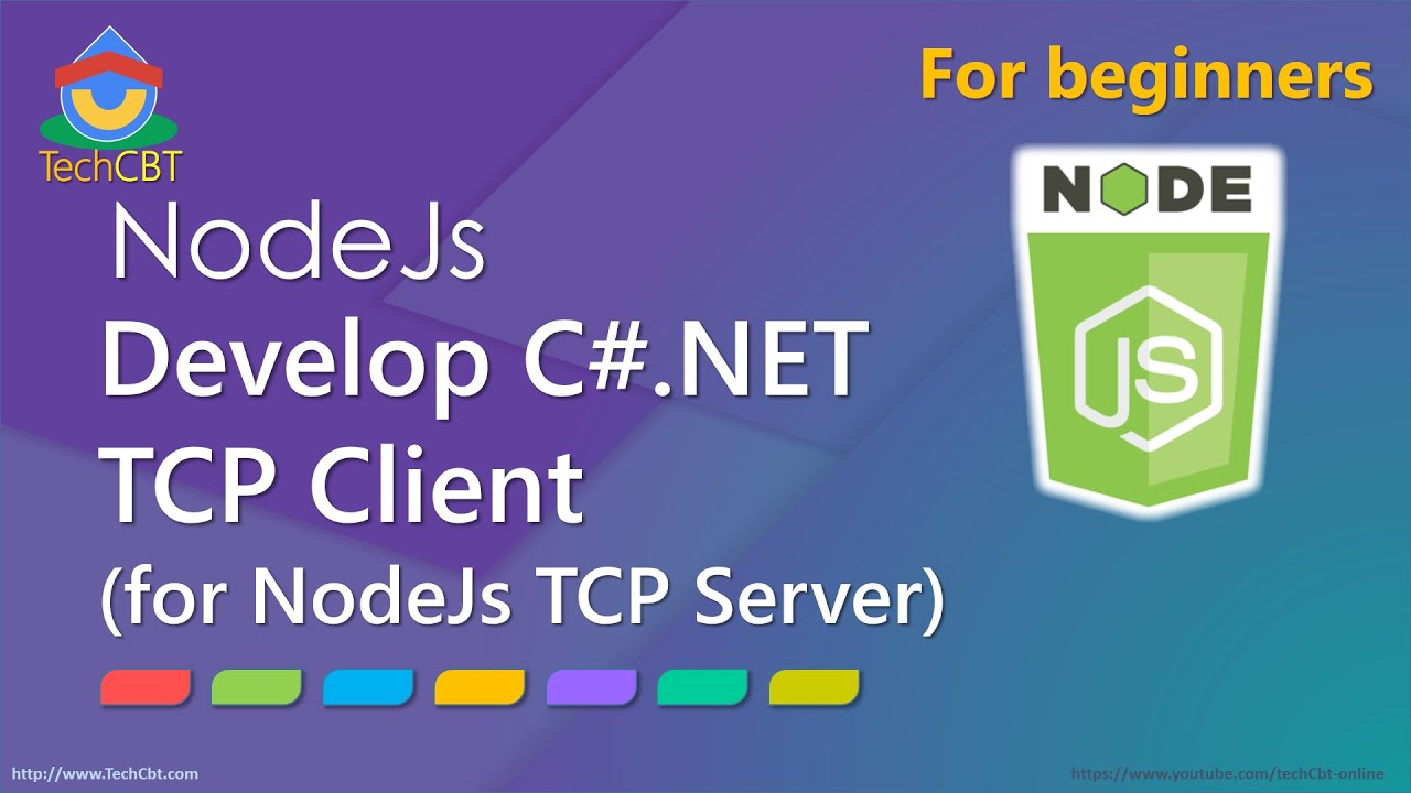 How to develop C# TCP Client to connect to Node Js TCP Server