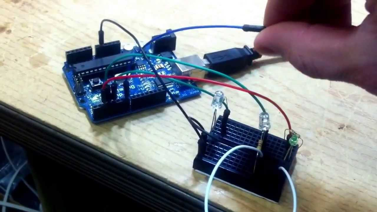 Arduino touch lamp using a capacitive sensor