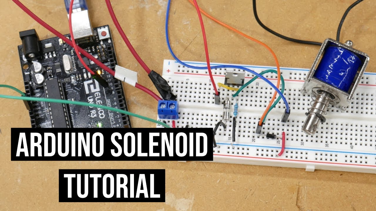 control a solenoid with an arduino tutorial youtube. Black Bedroom Furniture Sets. Home Design Ideas