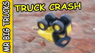 Tonka Mighty Dump Truck Crash | MrBigTrucks101