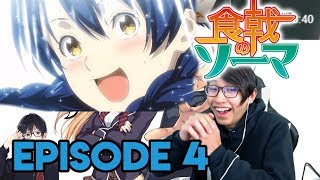 I WANT DORAYAKI TOOOO !!!   Episode 4  Shokugeki No Soma (S4) REACTION !