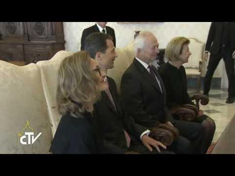 Da Papa Francesco i principi del Liechtenstein