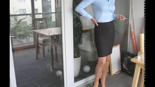 Smart dressed business lady smoking