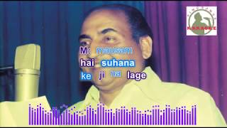 SAATHIYA NAHI JAANAA hindi karaoke for Male singers with lyrics