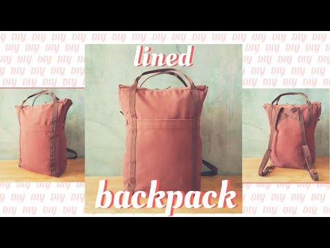 How to Sew a Lined Backpack, Easy lining method !