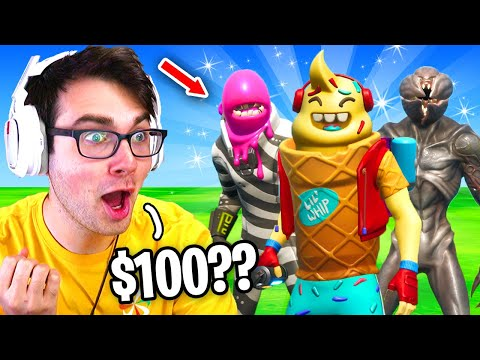 I Hosted An UGLY SKINS ONLY Tournament For $100 In Fortnite... (WORST Skins Ever)