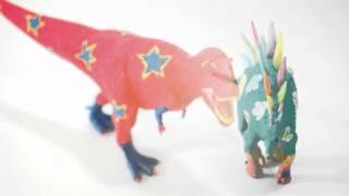 大人気の白い恐竜フィギア「ペイントダイナソー」 恐竜の色って化石からではわからないんだって。 だったら、自由な発想でペイントしてみませんか? (DVD内では5種類です ...