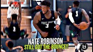 Nate Robinson STILL Got The BOUNCE!! Makes It Look EASY w/ Isaac Hamilton at The Drew!!