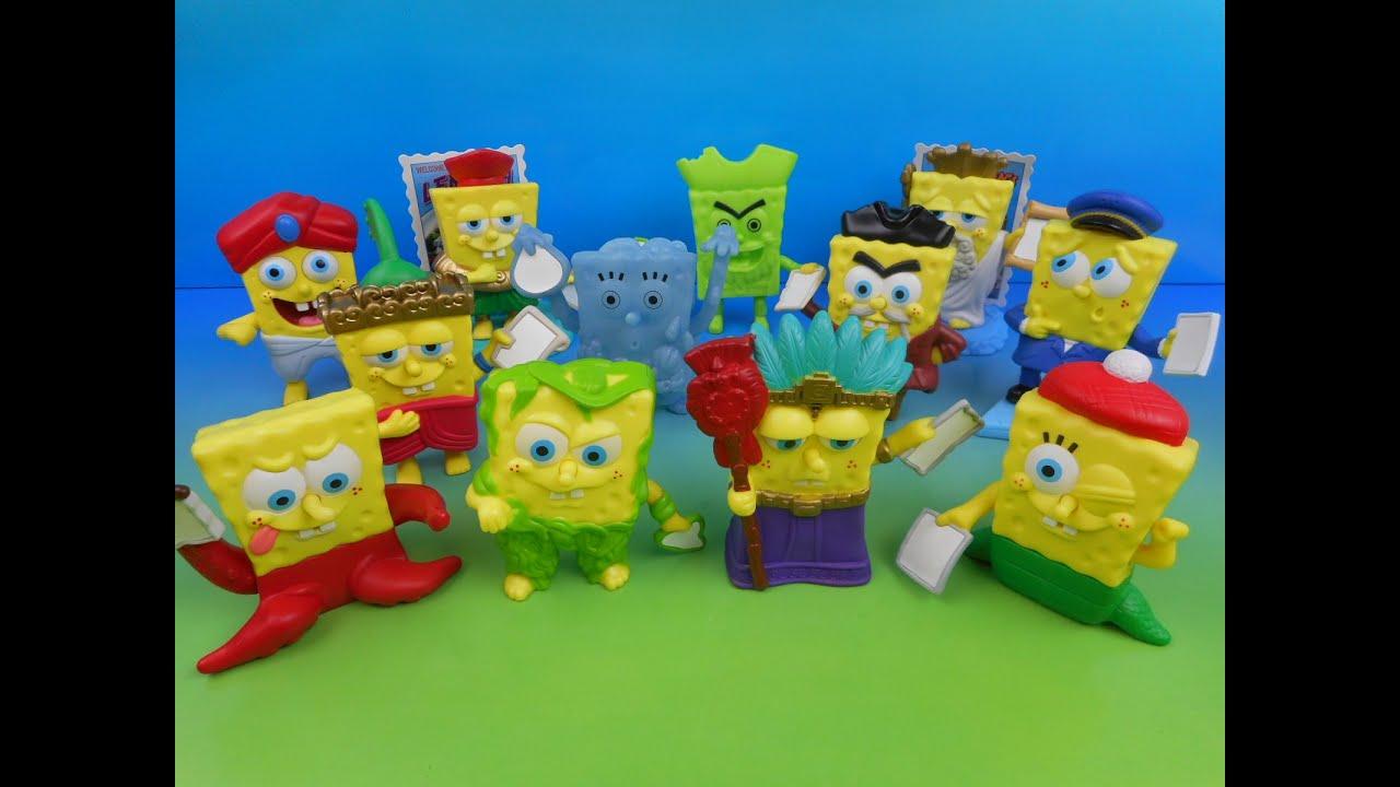spongebobs atlantis set of 12 burger king kidu0027s meal toyu0027s video review youtube - Spongebob Bedroom Set