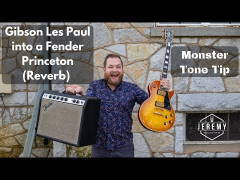 Monster Tone From A Custom Shop Les Paul Into A 1974 Fender Princeton With Reverb Mod