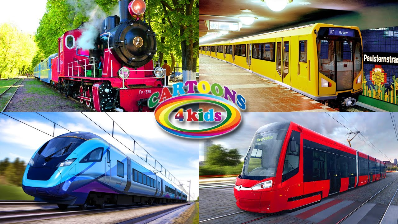 Trains For Kids and Toddlers. All types of trains