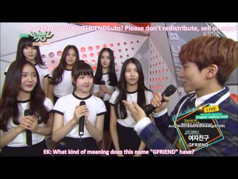 [ENG] 150116 GFRIEND - Interview at Music Bank