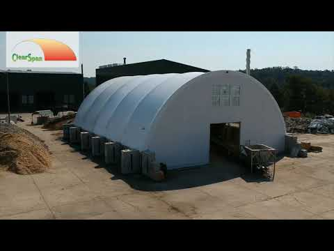 ClearSpan Fabric Structure - Wood Chip Process in Rockwood, Tenn.
