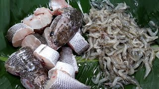 Asian food , Awesome Cooking fish with Vegetable Recipe - Cook fish Recipes -  village food factory