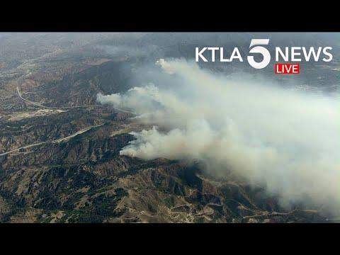 Saddleridge Fire Burns In North Los Angeles County | Part 1