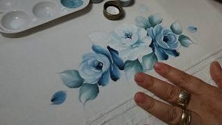 Pintura em Tecido – Aprenda Pintar Tom Sobre Tom – VÍDEO COMPLETO
