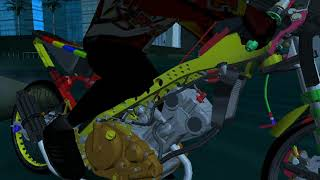 SHARE FU DRAG RESMIAN 200CC + SOUND WORK ANDROID | #33 GTA SA DRAG INDONESIA