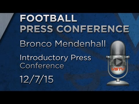 PRESS CONFERENCE: Bronco Mendenhall Introduced as Head Football Coach