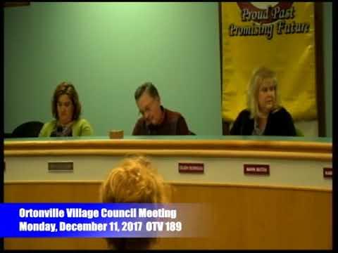 12 11 2017 Ortonville Village Council Meeting