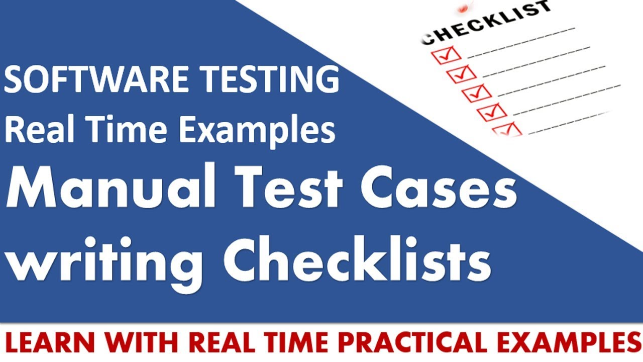 Software testing tutorials manual test cases writing checklists software testing tutorials manual test cases writing checklists baditri Gallery