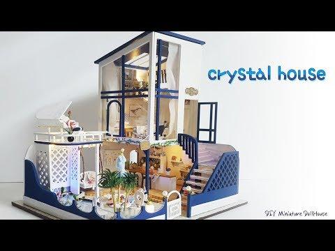 DIY Miniature Dollhouseㅣcrystal houseㅣ크리스탈 하우스 미니어쳐ㅣ박소소