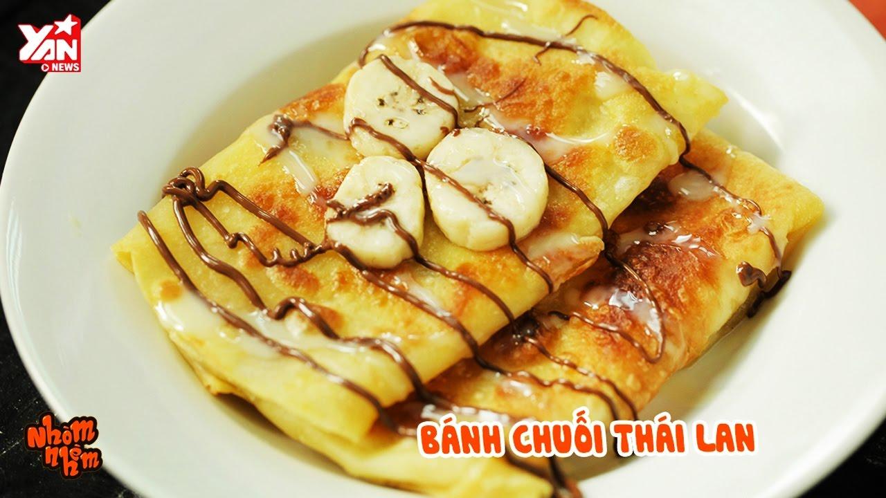 Nhòm Nhèm || Hướng dẫn tự tay làm bánh chuối Thái Lan vàng giòn béo ngậy | Lăn Vào Bếp