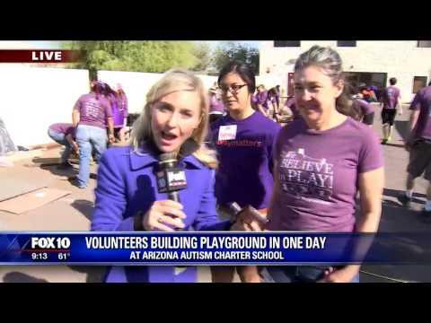 Building a playground at Arizona Autism Charter School