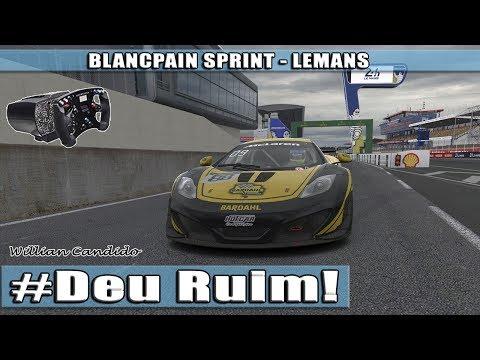 iRacing - Blancpain Sprint - Como estragar uma corrida! - LeMans