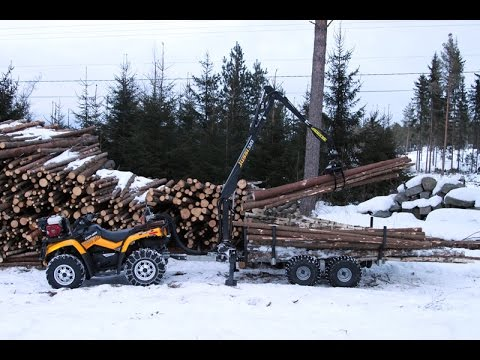 Vahva Jussi crane and ATV trailer in Finland