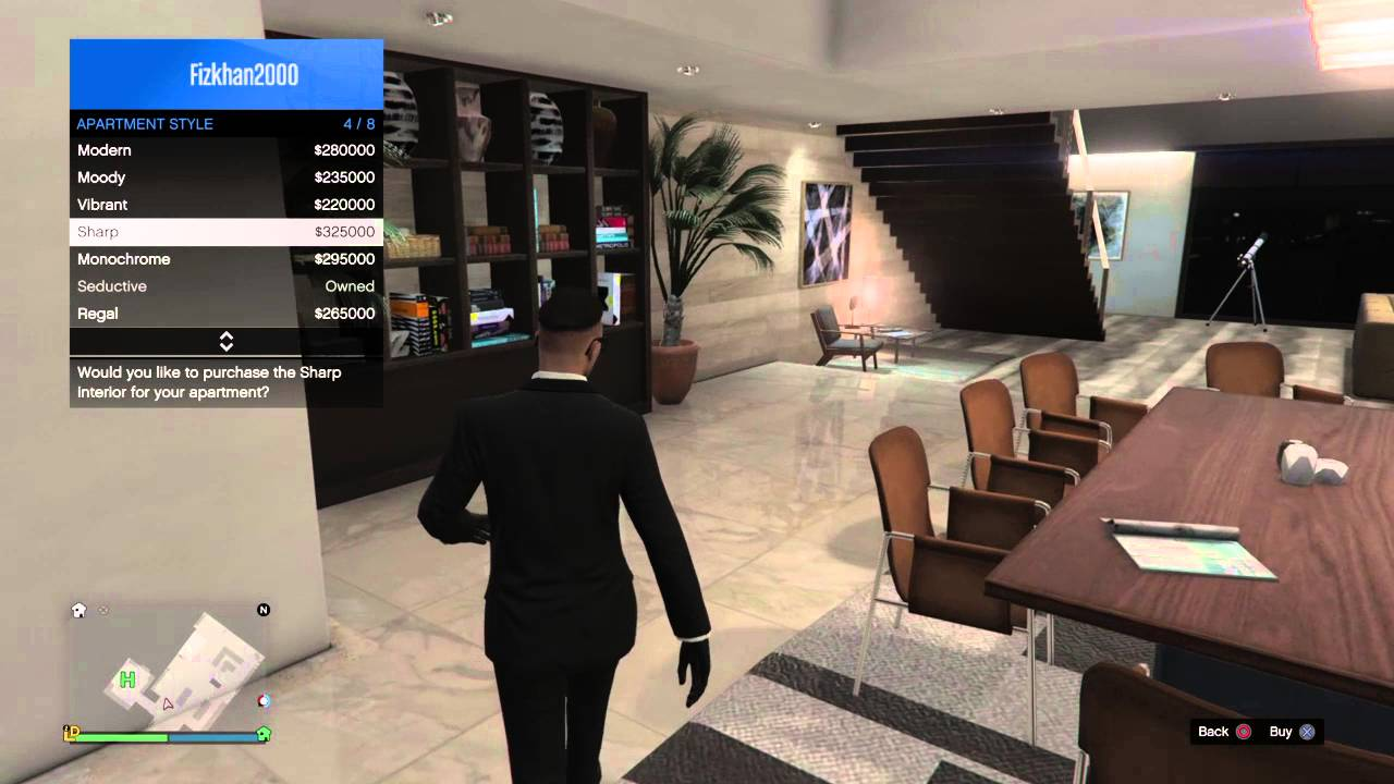 GTA V Online   Eclipse Penthouse All Interior Design   YouTube