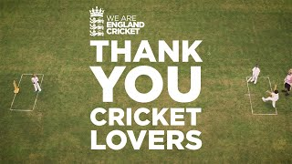 Together Through This Test Narrated By Stephen Fry | Thank You Cricket Lovers | England Cricket