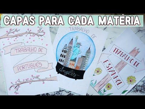 COMO FAZER CAPAS DE TRABALHOS DECORADAS PARA CADA MATÉRIA