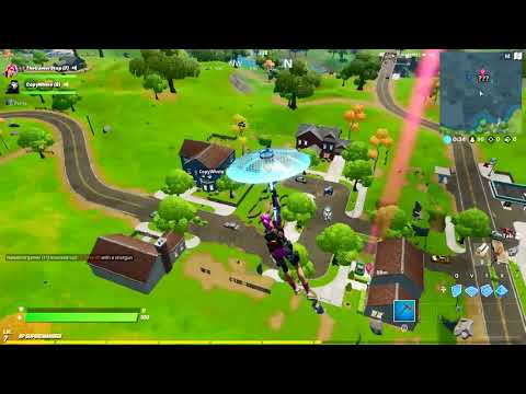 Land At Salty Springs (Discover Named Locations Mission) - Fortnite Season 11 New Map