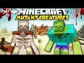 ZMUTOWANE MOBY W MINECRAFT! || ZMUTOWANY ZOMBIE VS ZMUTOWANY SZKIELET! || MUTANT CREATURES MOD!