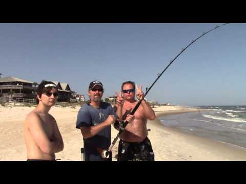 Shark fishing from the beach with Noel