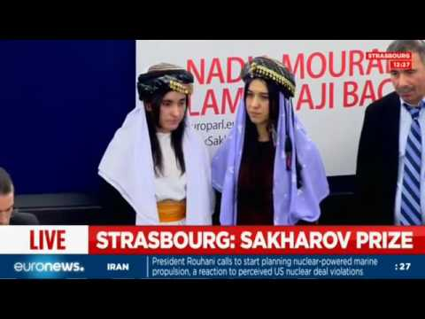 Live: Former ISIL sex slaves receive the...