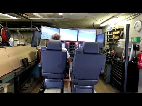 Full motion Home Flight Cockpit Simulator