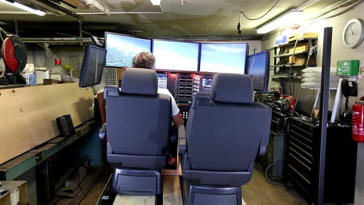 full motion home flight cockpit simulator   youtube