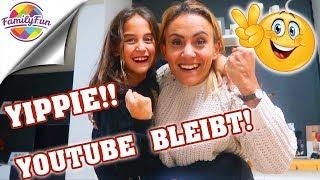 YOUTUBE LÖSCHT NICHT UNSEREN KANAL - Geschafft! -  Family Fun