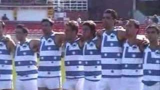Greece Australian Football team sings national anthem