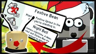*NEW* FESTIVE SPROUTS, NIGHT BELL & BUBBLE BEE MAN MASK! | Roblox Bee Swarm Simulator