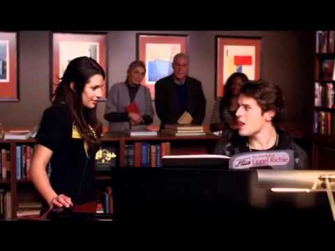 Hello - GLEE VERSION - Rachel and Jesse, first song together