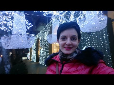 Влог: Огни Ночного Зимнего Еревана, Новогодняя Ярмарка на Северном Проспекте