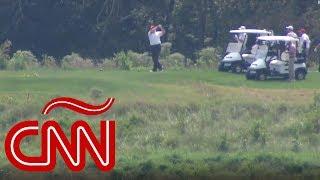 Trump juega golf mientras Dorian acecha la Florida