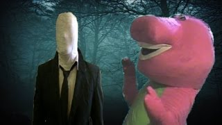 Slender Man Vs Barney The Dinosaur