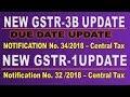 UPDATE GSTR-3B DUE DATE NOTIFICATION No. 34/2018 – Central Tax